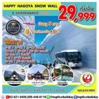 HAPPY NAGOYA SNOW WALL & SHIRAKAWAGO 5วัน3คืน